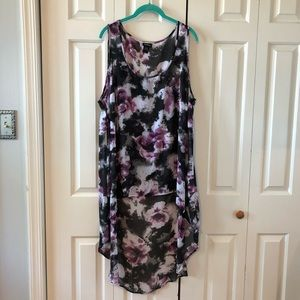 TORRID Watercolor Floral Semi Sheer Tunic